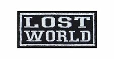 ' Lost World ' Biker Heavy Rocker Patch Aufnäher Kutte Motorrad Badge Stickerei