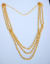 18K Yellow Gold Plate  3 IN 1 CHAIN  CPendant Necklace Free Chain 26 in  u30D