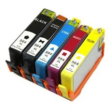 5 Pack Chipped HP564 set ink Cartridges Black Photo Black Cyan Magenta Yellow