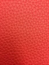 """TEXTURED PVC VINYL LEATHER FABRIC - Red - 55"""" WIDTH SOLD BTY"""