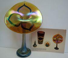 Signed Steven V.Correia Gold Luster Jack In The Pulpit Vase Limited Edition