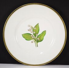 "Royal Worcester Williamson Flower Lily Of The Valley Dinner Plate 10.5"" Painted"