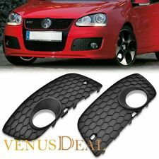 For 06-09 VW MK5 GTI GLI Jetta Fog Light Grille Honeycomb Mesh Insert Vent Pair