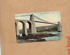 Wales the Menai straits Bridge Carnarvon tinted valentines and son ao1