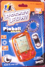 1999 Pinball Arcade Pocket Fun Senario Games Keychain New In Sealed Package