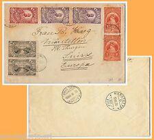 5623 - ETHIOPIA Etiopia - STORIA POSTALE : BUSTA da Dire Dawa  a SWIZZERA 1936