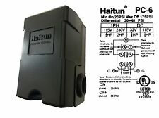 HAITUN Adjustable Water Pressure Control Switch 30-50 PSI Single Mechanical Well