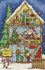 DMC Inside Christmas Santa's Grotto Cross Stitch Kit