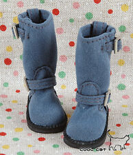 ☆╮Cool Cat╭☆【10-10】Blythe Pullip Doll Boots # Steel Blue