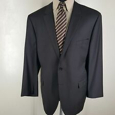 *INDOCHINO* NEW DARK BROWN BLAZER 2 BUTTON SIDE VENTS WOOL BESPOKE APPROX 52LONG