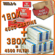 4000 Cartine BRAVO + 4500 Filtri Rizla Slim 6mm OFFERTA!