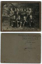 Photo militaire groupe de Société de tir 1911  carabine fusil chasse Chasseur