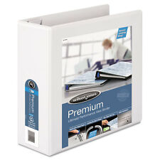 "Wilson Jones Ultra Duty D-Ring View Binder W/extra-Durable Hinge, 4"" Cap, White"