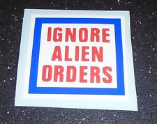 Ignore Alien Orders - Guitar sticker  - Decal - Strummer The Clash Punk