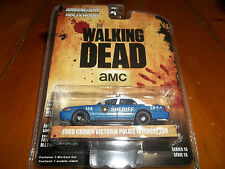 GREENLIGHT 1/64 HOLLYWOOD SERIES 13 THE WALKING DEAD FORD CROWN VICTORIA POLICE