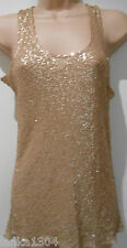 Miso Brown sequinned Evening Party Top/Blouse T shirt (NEW ) size 10 -£24.99