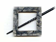 Buttons.etc ::Paradise Exotic Shawl Pin #30503:: Black Shell Square 25% OFF!