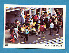AUTO E MOTO - Figurina-Sticker n. 142 - BOX A LE MANS -New
