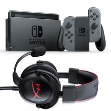 Nintendo Switch bundle with Gray Joy-Con + Kingston HyperX Cloud Core Headset