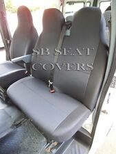 TO FIT A FIAT SCUDO VAN 2008, SEAT COVERS, DARK RAVEN, 1 SINGLE 1 DOUBLE