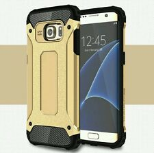 Samsung Galaxy S7 Edge Tough Case2 Layer X-Armor Shell Hard Back Cover gold