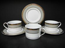 MIKASA FINE CHINA CAMBRIDGE Y0501 set of 3 CUPS WITH SAUCERS