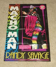"Macho Man Randy Savage & 1-2-3 Kid Doublesided Poster WWF WWE 32.375"" x 21.5"""
