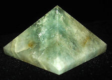 PYRAMID - AQUAMARINE Crystal with Description Card & Pouch - Healing Stone Reiki