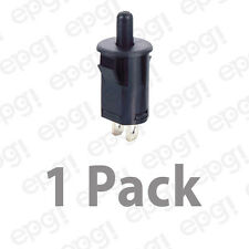 SPST (N/O) MOMENTARY ON BLK PLUNGER PUSH BUTTON SWITCH 3AMP@125VAC #66-2475-1PK