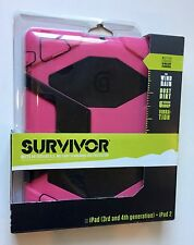 Griffin Survivor Protective Pink & Black Case for iPad (3rd & 4th Gen) + iPad 2
