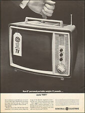 1963 Vintage ad for General Electric Portable TV 12 pounds photo  081416