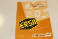 catalogue de pièces détachées ERSA CITROEN POUR 2 CH CITROEN 1970