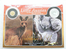 2011 Australia Little Aussies Kangaroo $2 Dollar Gold Koala Silver 2 Coin Set