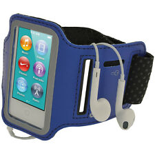 Blue Anti-Slip Sports Jogging Armband for New Apple iPod Nano 7th Generation 7G