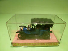 MINIALUXE 1:43 TORPEDO PEUGEOT 1906 TYPE 81B- EXTREMELY RARE - GOOD IN SHELL BOX