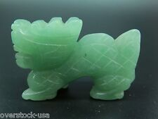 NEW 52mm Natural Chinese Aqua Jade Carved Dragon Statue