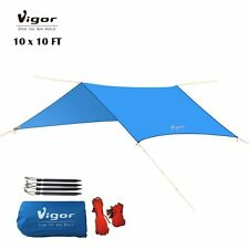 Vigor Water-Resistant Lightweight Rainfly 10x10 ft Rain Fly Large Tent Tarp for