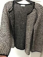 Dries Van Noten Cardigan textured, knit Gold and Black, Medium