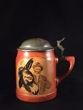Vintage Antique Harvard University Tankard Stein ~  Handel Pottery