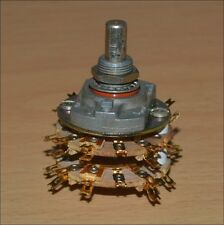 6P2T Rotary switch. JEANRENAUD - FRANCE. NOS. Gold plated contacts.