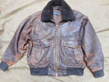 original LEVI'S LEVIS STRAUSS & CO leather A2 PILOT JACKET COAT VINTAGE 70 80'S