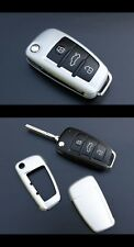 Audi Remote Flip Key Cover Case Skin Shell Cap Fob Protection Hull S-Line Silver