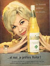 PUBLICITE ADVERTISING  1958   HUILOR    huile d'arachide