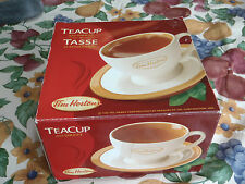 tim hortons tea cup and sauer in original box
