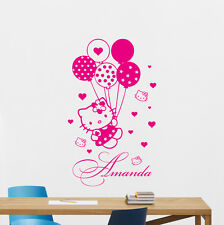 Custom Name Hello Kitty Wall Decal Personalized Girl Vinyl Sticker Mural 118crt