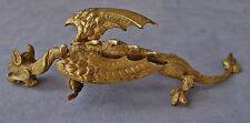 CHINE : Dragon Sculpture en Bronze Ciselé et Doré du XIXème siècle