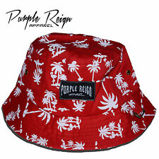 "PURPLE REIGN ""Red Palms"" Bucket Hat supeme hundreds diamond stussy HBA Obey"