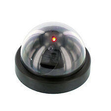 Fake Dummy Dome Surveillance Security Spy Video CCTV Camera w/ LED Light, Black