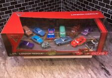 ��DISNEY CARS LONDON RESCUE W/ CAPTURED PROFESSOR Z, BOMB MATER, CRUMLIN 12 PACK