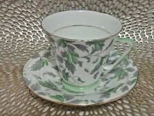 Royal Grafton Great leaf and Green Chintz Design Tea Cup and Saucer Pattern 587